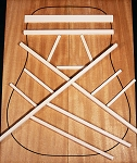 Adirondack Red Spruce Bracewood Kit - Dreadnought/Jumbo