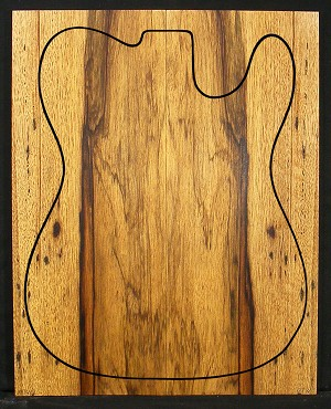 Korina / Black Limba Electric Drop Top - Quarter Sawn