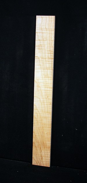 Curly Flame Maple Fingerboard Blank